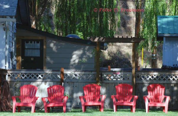 Five Red Chairs