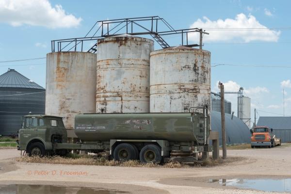 Green Tank Truck