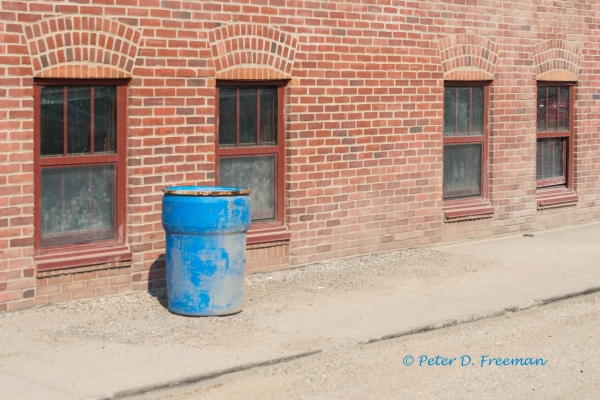Blue Plastic Barrel